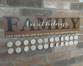 No Vinyl - Family Birthday Reminder Board Sign - Hand-Painted, Solid Wood, Ready to Complete Tags