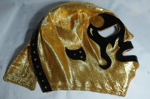 Golden Vampire Halloween Wrestling Mask