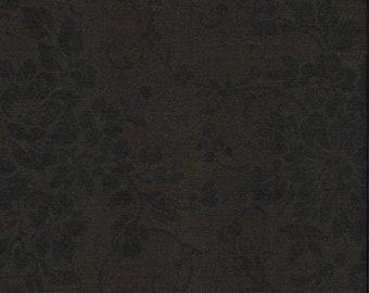 "Fabric Remnant, Mary's Blenders, Windham Fabrics, Dark Brown, 1 Yard + 35"""