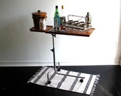 TEMPORARY RESERVE Vintage Danish Writing / Reading Table - Mid Century Modern Rolling Desk - Side Table, Bar Cart