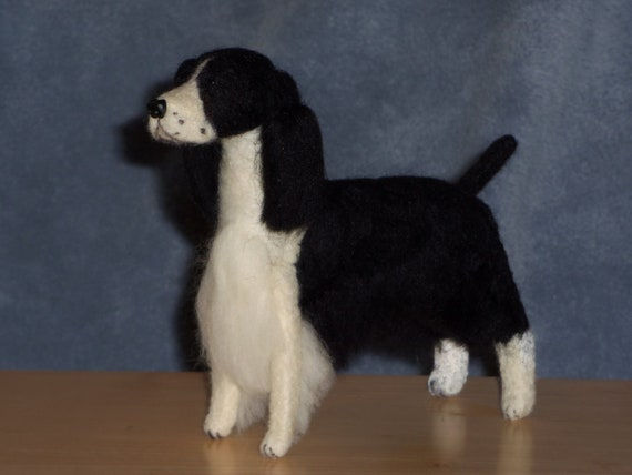 English Springer Spaniel needle felted dog example custom made to order