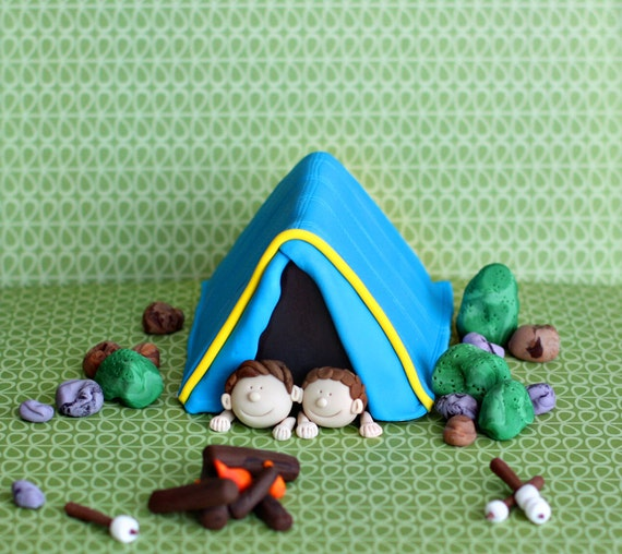 Like this item? & Fondant Camping Tent Su0027mores Fire and More Fondant Cake