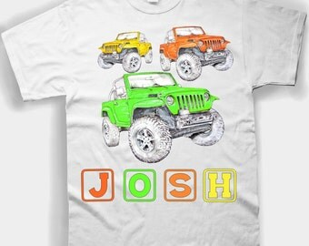 Jeep Tee Shirt Toddlers & Youth Sizes - Plus Add Your Name ..
