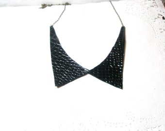 Black Necklace Leather collar