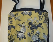 Durable tote with floral print