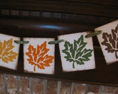 Fall Leaf Banner Autumn Colors Garland Sign Beautiful Photo Prop Party Decoration  Can Add More Leaves (S1)