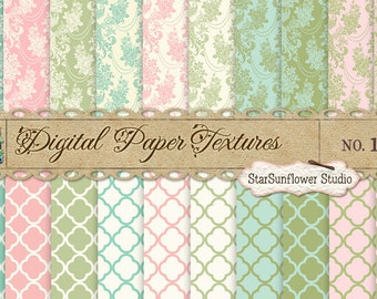 Digital Paper Textures Pack No 11 -  12x12 - Great for Photography & Digital Scrapbooking