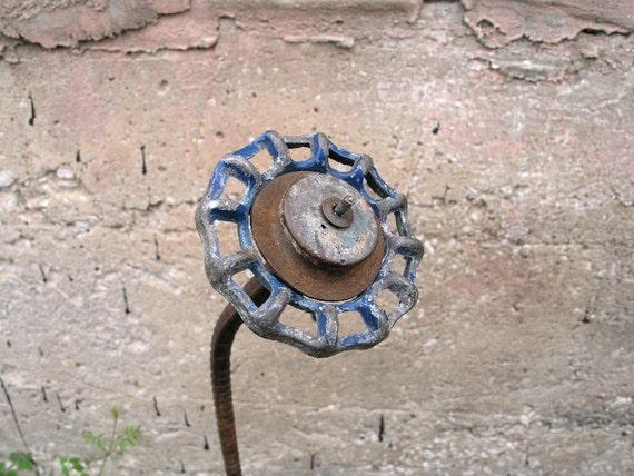 Metal Sculpture - Home and Garden Decor - Found Object Flower Art - 3D Flower Art