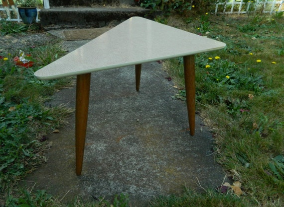 Mid Century 1950's Triangle Coffee Table