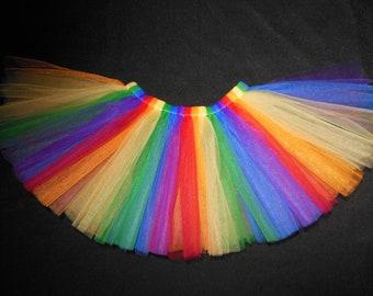 Rainbow tutu perfect for Birthday parties custom made sizes Newborn-4t