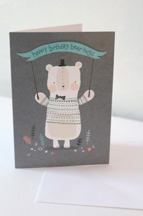 Happy Birthday Bear Hugs birthday card
