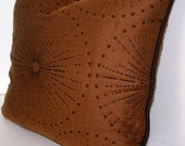 Celestine/Topaz by Robert Allen - 17 x 18 inch - Pillow cover - Brown Quilted Fabric - Brown Silk
