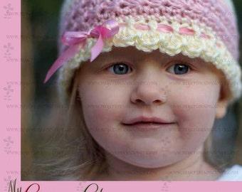 Baby Hat Crochet Pattern - STAR STITCH HAT