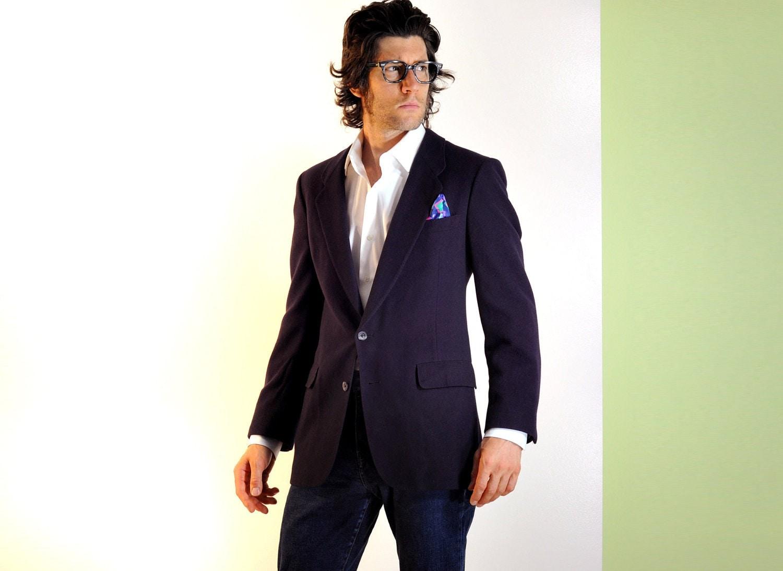 mens purple suit jacket Christian Dior flannel sportcoat