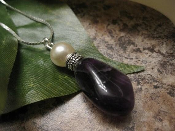amethyst necklace, amethyst jewelry, purple necklace, purple jewelry, white gold plated jewelry, purple stone jewelry, natural stone jewelry