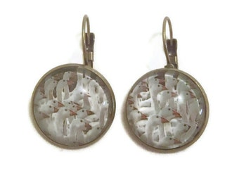 My  Favourite Things Sound Of Music Collection White Geese Earrings