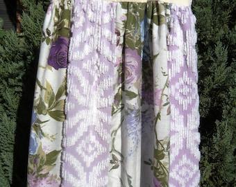 Vintage Linen Purple Themed Dress Size 6/7