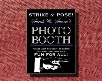 Printable Wedding Photo Booth Sign or Poster