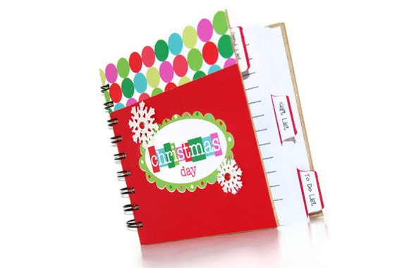 Christmas Planner Holiday Notebook Journal By Chloescards