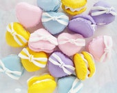 4pcs - Pastel Heart Macaron Mix Decoden Cabochon (25mm) CE10015