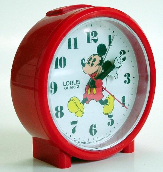 Newer Vintage Mickey Mouse Lorus Quartz Alarm Clock