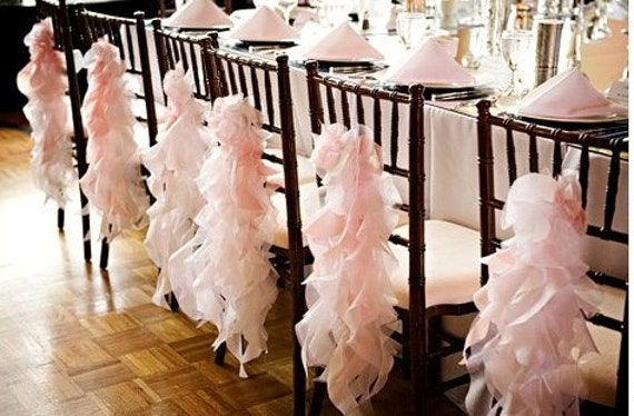 Custom Made Pink Ivory and Champagne  Chiffon Curly Accents reserved Listing of 20