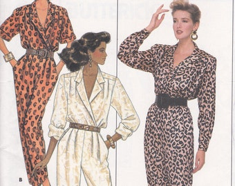 Butterick 5729 Sizes 12 14 16 Bust 34 36 38 jumpsuit uncut sewing pattern from 1987
