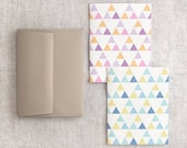 Triangles Cards Set of 4 - Geometric Patterns, Eco Friendly Stationery
