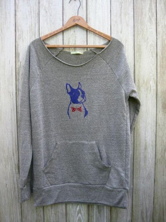 SALE Boston Terrier Sweatshirt, size XL