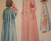 Now on Sale, 1949 McCall Girls' Robe Sewing Pattern 7909, Size 8, Uncut