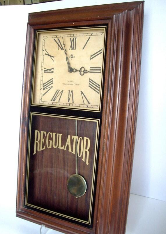 Vintage Wall Clock Elgin Westminster Chime 1965