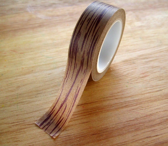 washi tape wood grain pattern 15mm x 10m pretty by mylittleotter. Black Bedroom Furniture Sets. Home Design Ideas