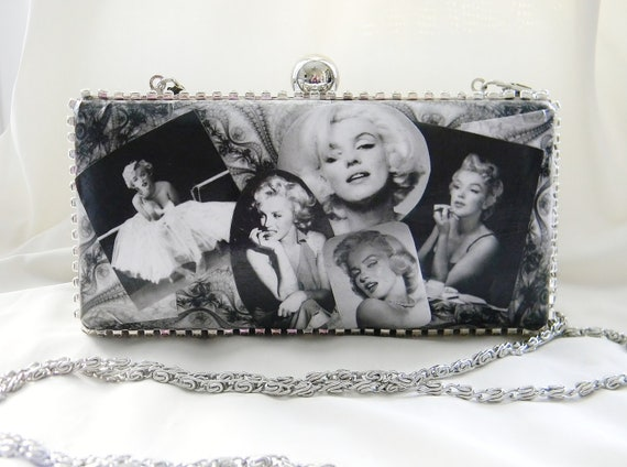 Marilyn Monroe Clamshell purse Clutch handbag Evening bag
