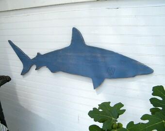 Shark Mako Large Sign Wooden Wall Art