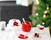 SALE: Miniature Red Velvet Christmas Cake