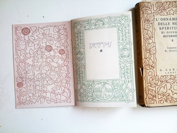 Vintage Book Inspired, Art Nouveau Handmade Notebook - The Mystical Notebook, Customizable