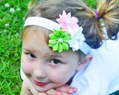 Flower Headband, Flower Bow, Infant Headband, Girls Headband, Baby Headband, Infant Bow, Girls Bow, Baby Bow