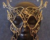 Bronze & Crystal Phoenix Mask