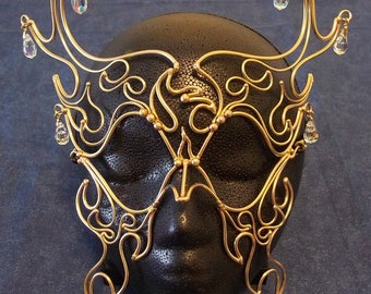 Bronze & Crystal Phoenix Mask