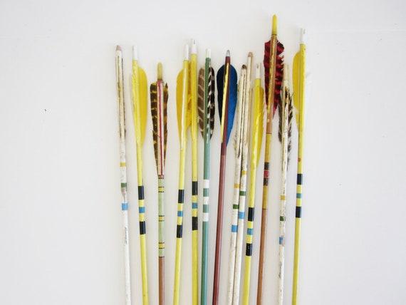 Vintage Wood Arrows Native Stripes Primitives Farmhouse Cabin Hunting