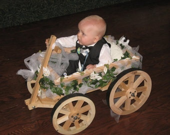 Small Flower Girl Wedding Wagon- Unfinished