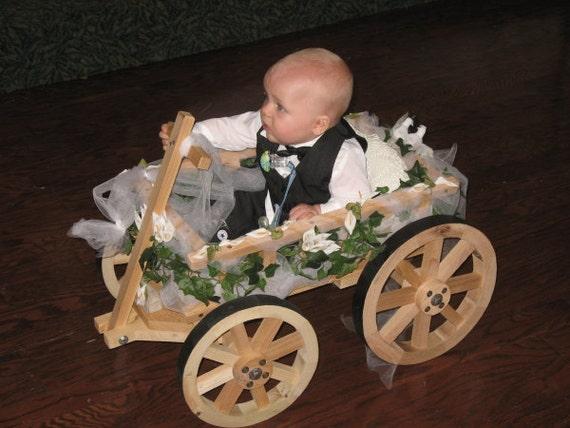 Small Flower Girl Wedding Wagon Unfinished