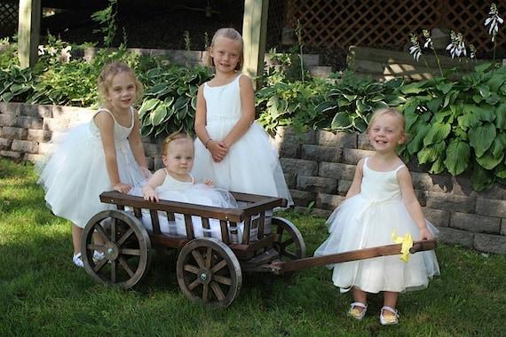100 Breathtaking Ideas For Spring Weddings | Wagon for ... |Flower Girl Wagon Wedding Party