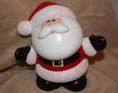 RESERVED FOR CARY -Handpainted ceramic Happy Santa Claus who decked out in the traditional Santa attire