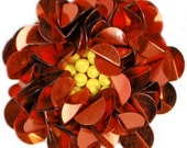 Red Sequin Flower Center Applique