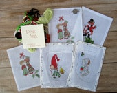 5 Christmas Stocking Hand Painted Needlework Canvas - Alexa, Deux Amis & Tapestry Tent