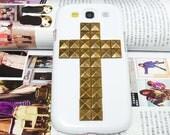 Samsung i9300 T999 Galaxy S3 T-Moible Case,Samsung Galaxy S3 Case,Bronze Metal Samsung i9300 Galaxy S3 Case,Cross Samsung Galaxy S3 Case