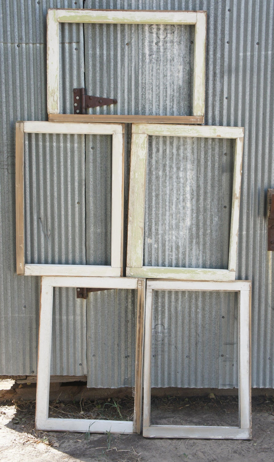 Old Vintage Wood Window Frames from Antique Home Crafts Home