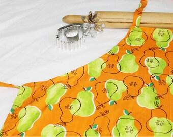 Pears Adult Apron on Orange