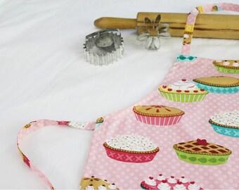 Pies on Pink Child Apron